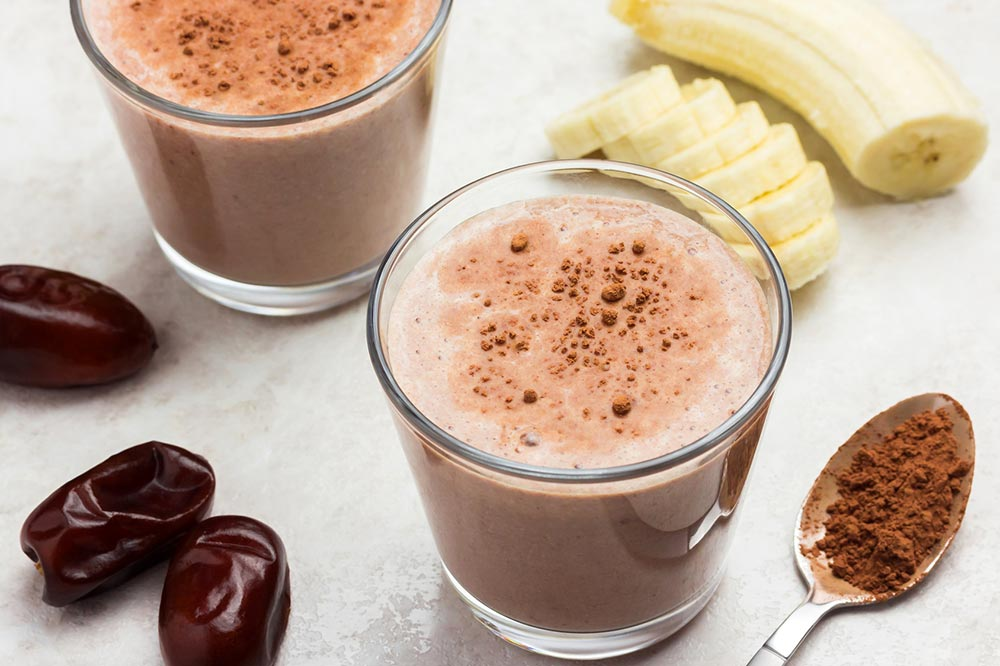Kakaovo-datlové smoothie