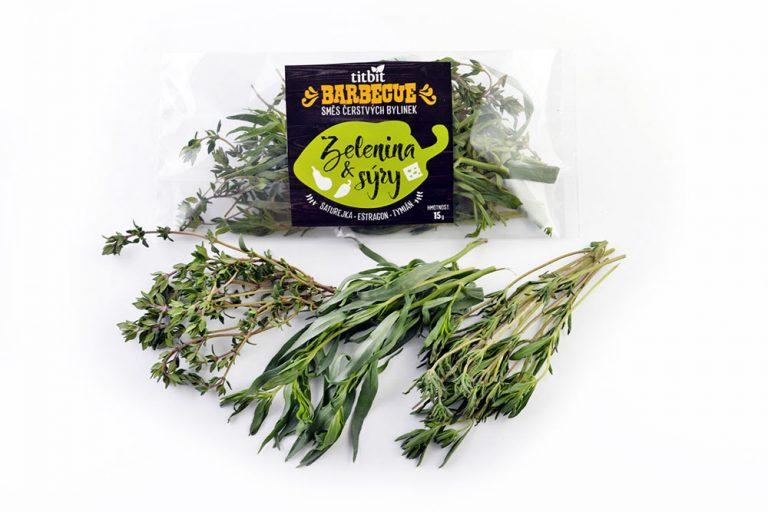 BBQ čerstvé byliny na zeleninu a sýry Titbit