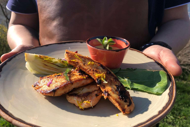Marinovane kuře s Harissou a Mangolínou
