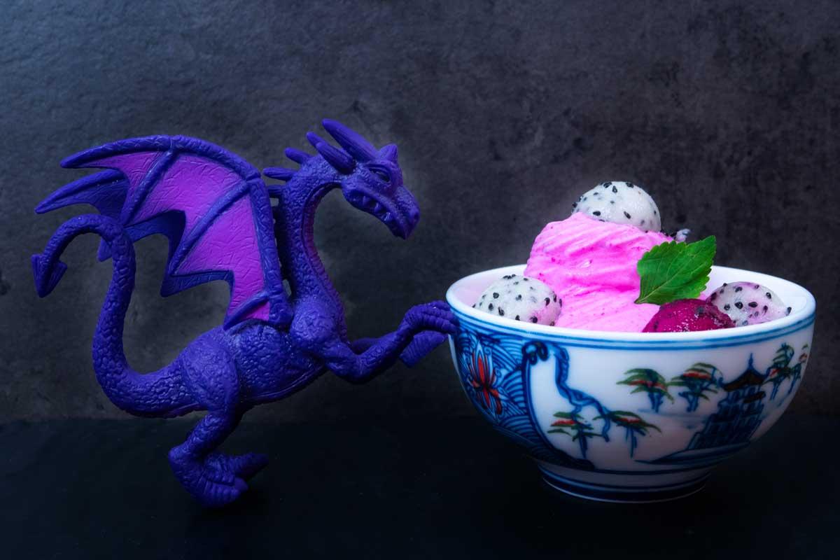Mražený jogurt z dračího ovoce