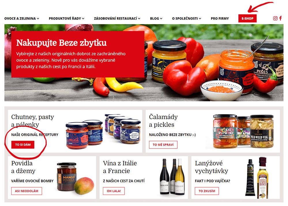 Titbit homepage e-shopu